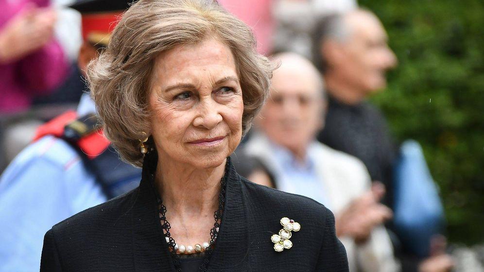 Foto: La emérita durante el funeral de Montserrat Caballé. (Cordon Press)