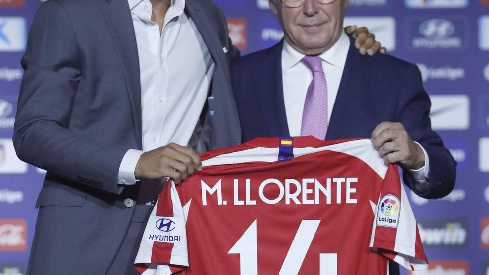 El Atlético de Madrid despide a Rodri en la presentación de Marcos Llorente