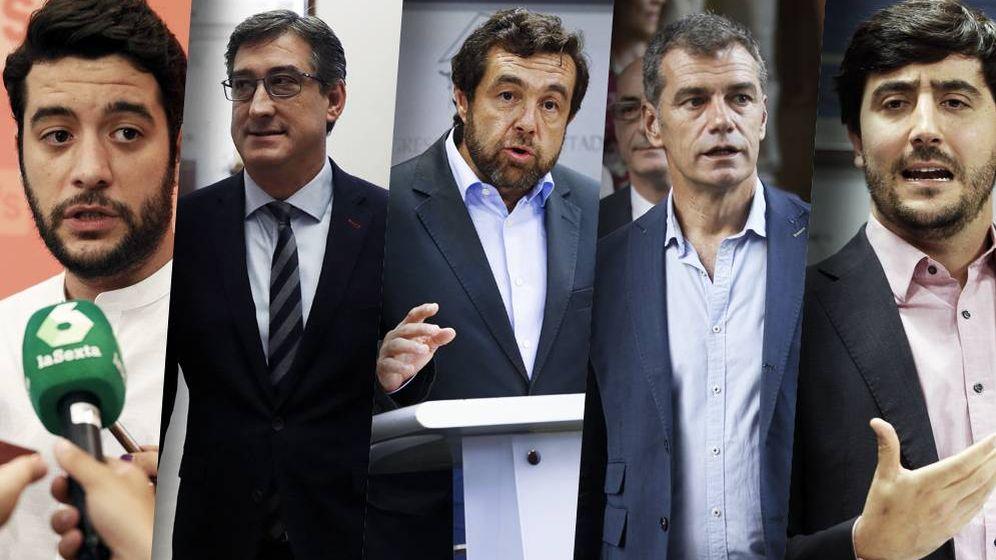 Foto: De izquierda a derecha, César Zafra (número dos de Ignacio Aguado), Ignacio Prendes, Miguel Gutiérrez, Toni Cantó y Toni Roldán encabezan las quinielas de las incorporaciones.