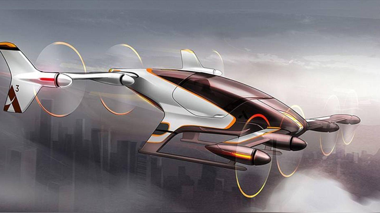 Imagen conceptual del proyecto Vahana, de Airbus, que imagina cómo será el transporte unipersonal por el aire. (Airbus)