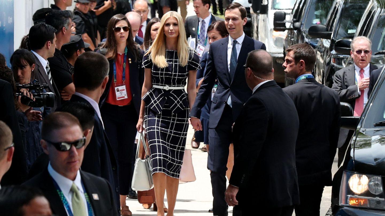 Ivanka Trump con el vestido de Oscar de la Renta. (EFE)