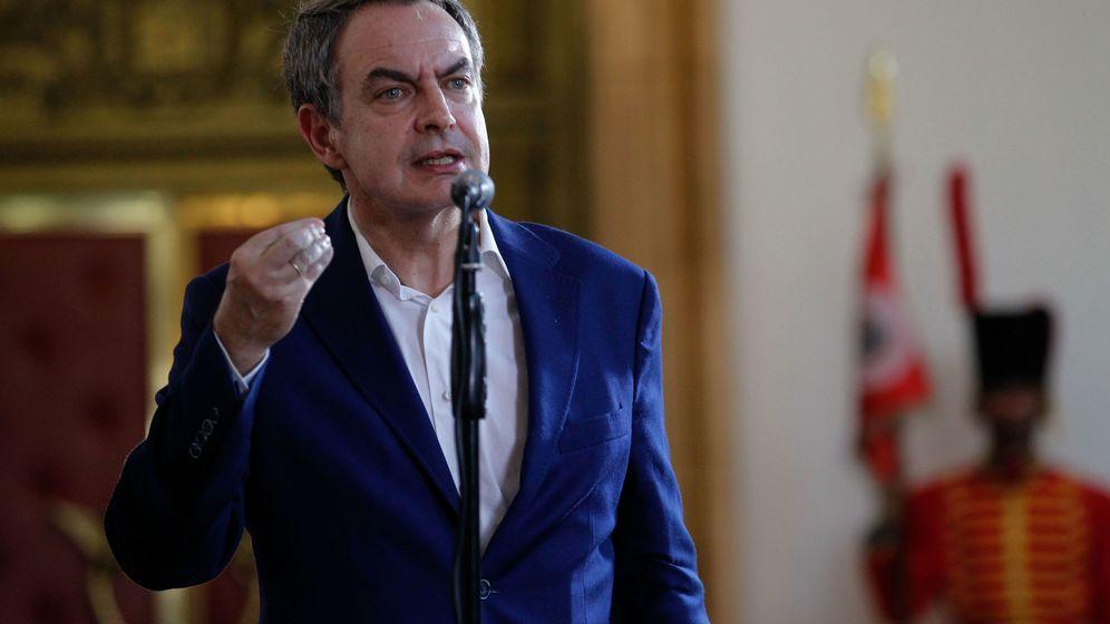 Foto: Zapatero en un encuentro con la prensa venezolana celebrado esta misma semana. (EFE)