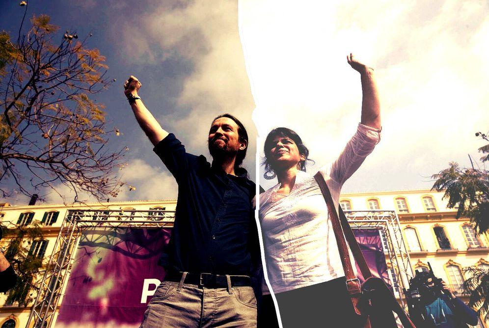 Foto: Pablo Iglesias y Teresa Rodríguez durante un acto de campaña en Andalucía. (EFE)