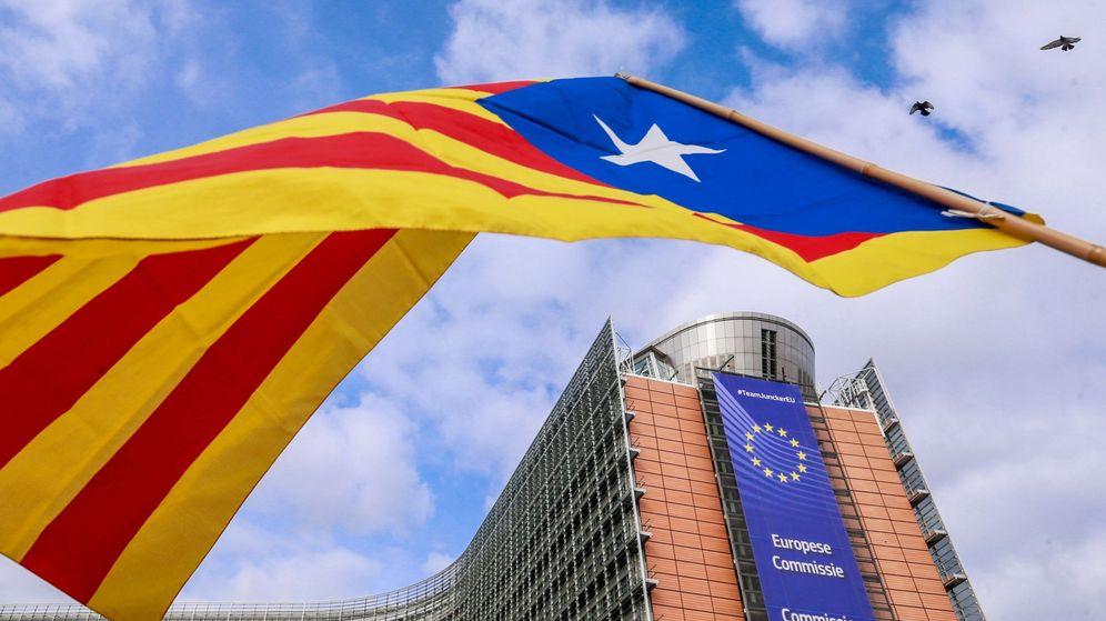 Foto: Protesta en Bruselas contra el juicio a los doce dirigentes independentistas catalanes
