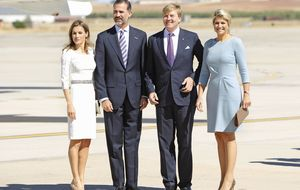 Letizia y Máxima de Holanda, duelo de damas en Zarzuela
