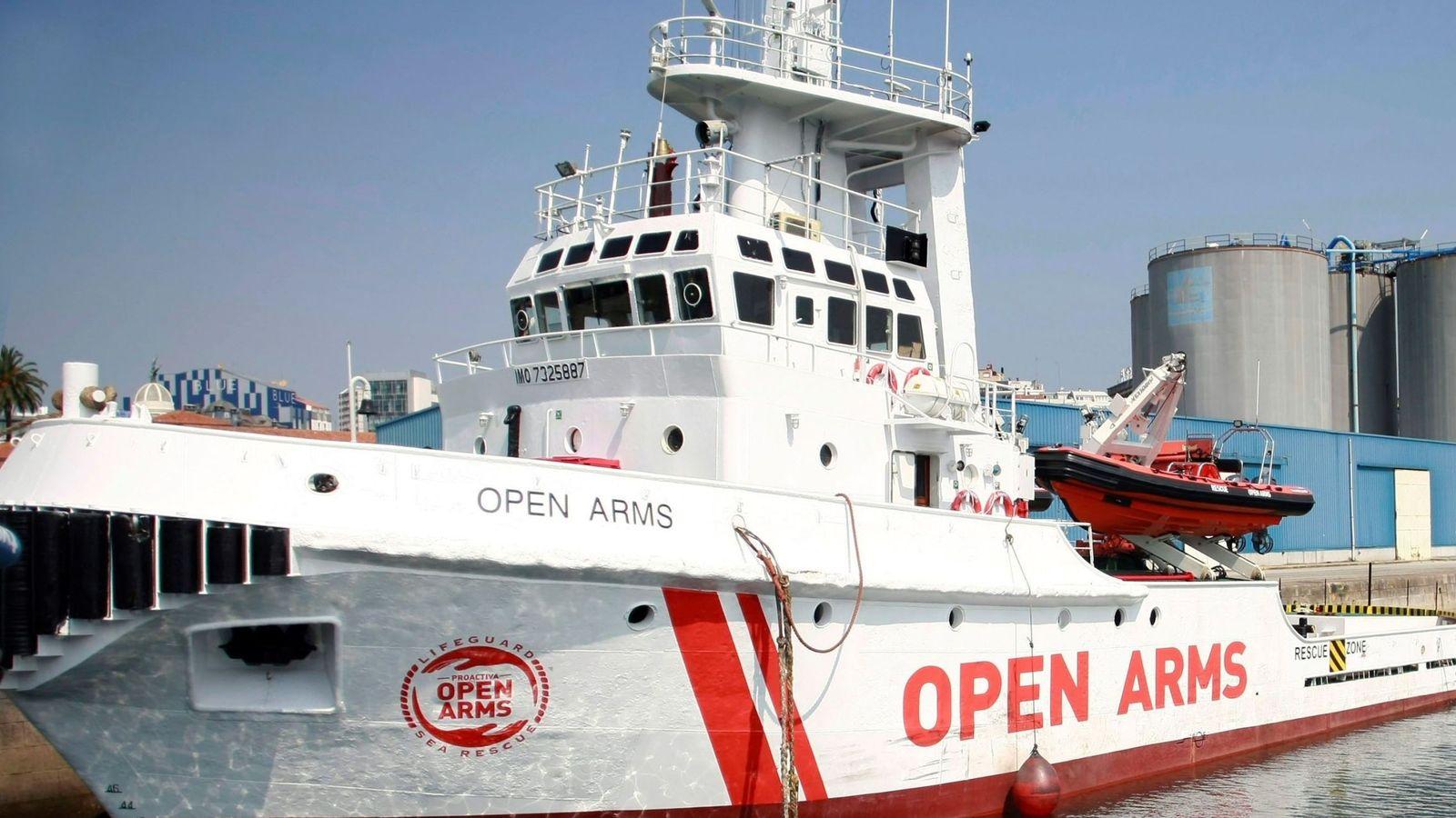 Foto:  Imagen de archivo de la embarcación Open Arms perteneciente a la ONG Proactiva. (EFE)