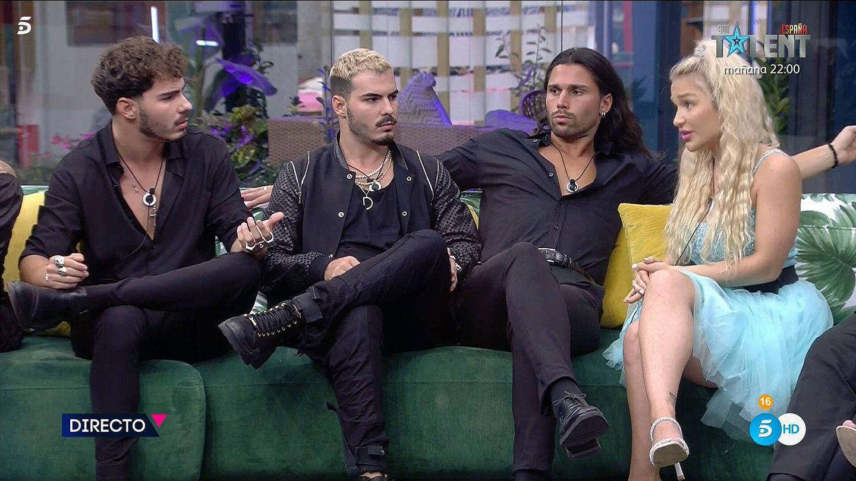Jesús, Dani y Emmy, en 'Secret Story'. (Mediaset)