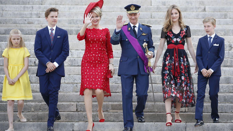 La familia real de Bélgica, en 2018. (EFE)