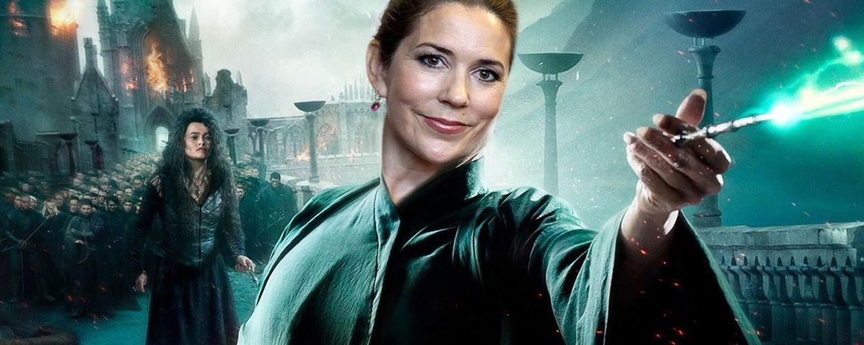 Foto: La princesa Mary caracterizada como Lord Voldemort (Vanitatis)