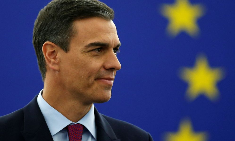 Foto: Pedro Sánchez, durante su intervención ante el pleno del Parlamento Europeo, este 16 de enero en Estrasburgo. (Reuters)