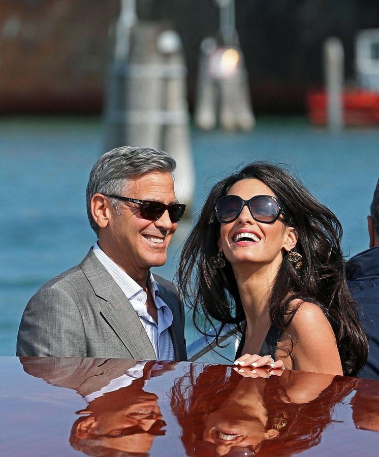 Foto: George y Amal en Venecia en una imagen de archivo. (EFE)