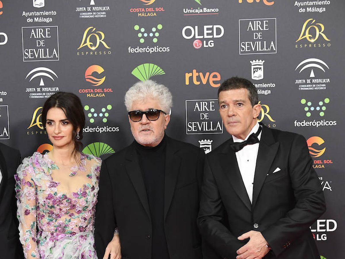 Foto: Penélope Cruz, Pedro Almodóvar y Antonio Banderas en los Goya 2020. (Limited Pictures)