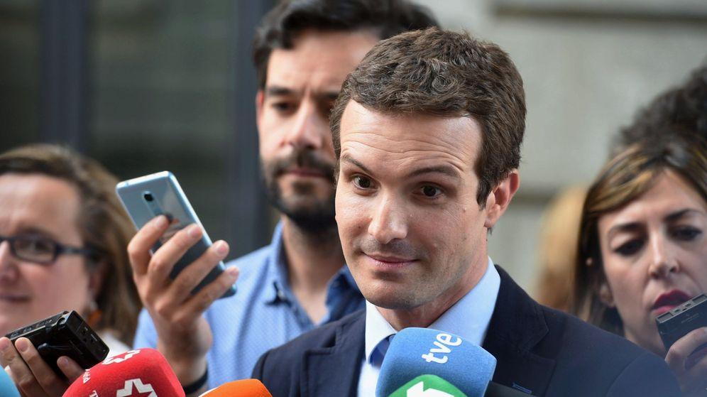 Foto: El vicesecretario de Comunicación del PP y precandidato a presidir al partido, Pablo Casado. (EFE)
