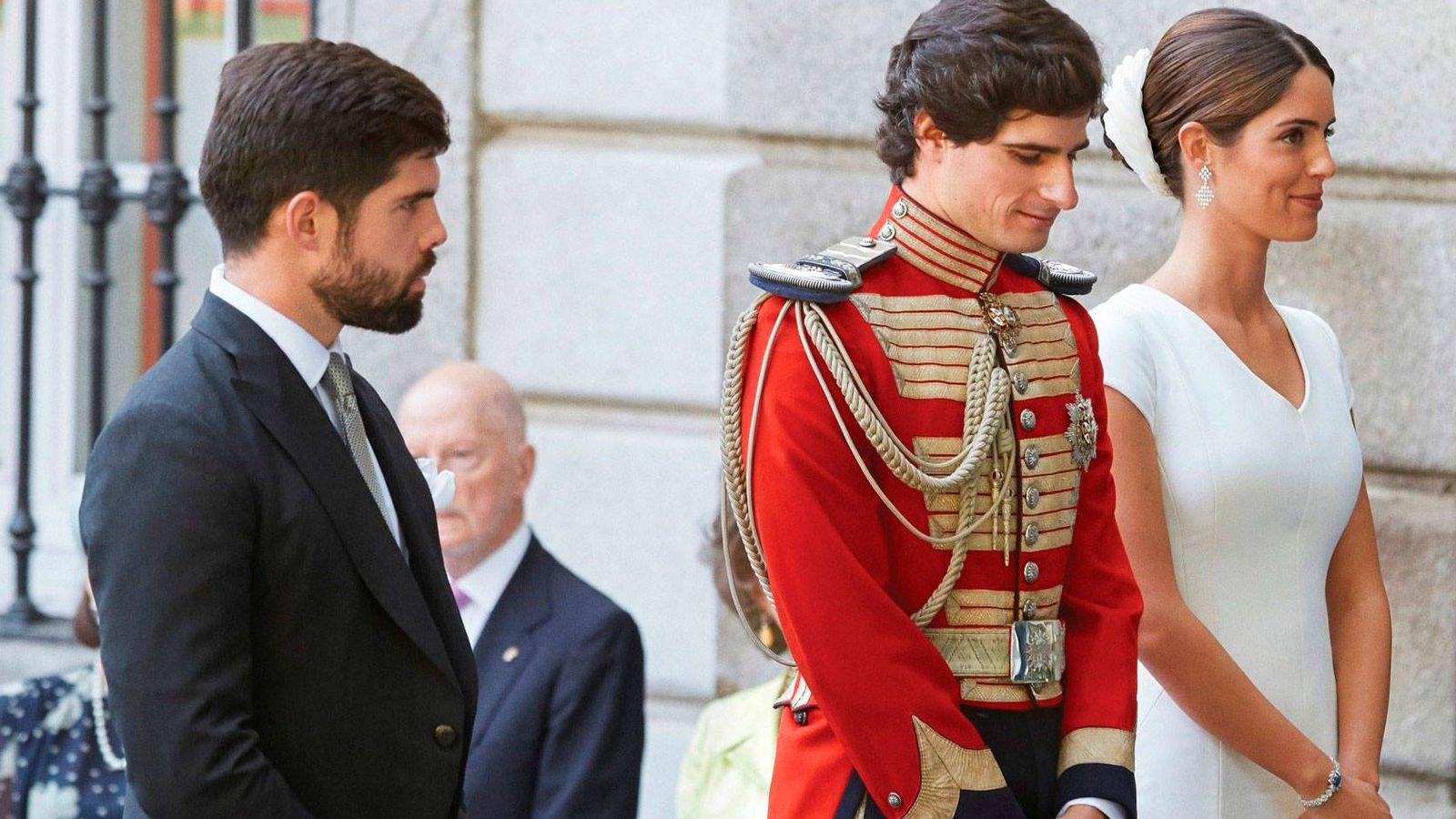 Foto: Fernando Palazuelo junto a los duques de Huéscar. (EFE)