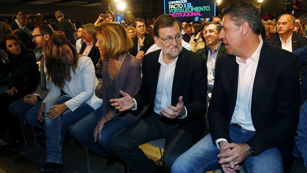 Foto: El presidente del Gobierno en funciones, Mariano Rajoy y el coordinador general del PPC, Xavier Albiol. (EFE)