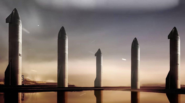 Las cinco primeras Starship llevarán suministros, maquinaria y robots.