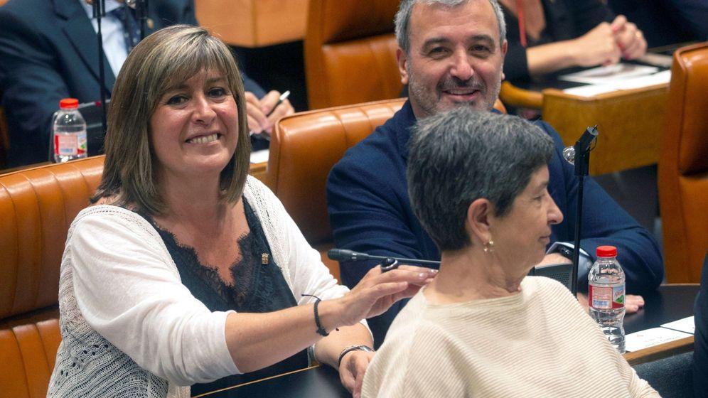 Foto: La socialista Núria Marín, durante el Pleno de la Diputación de Barcelona. (EFE)