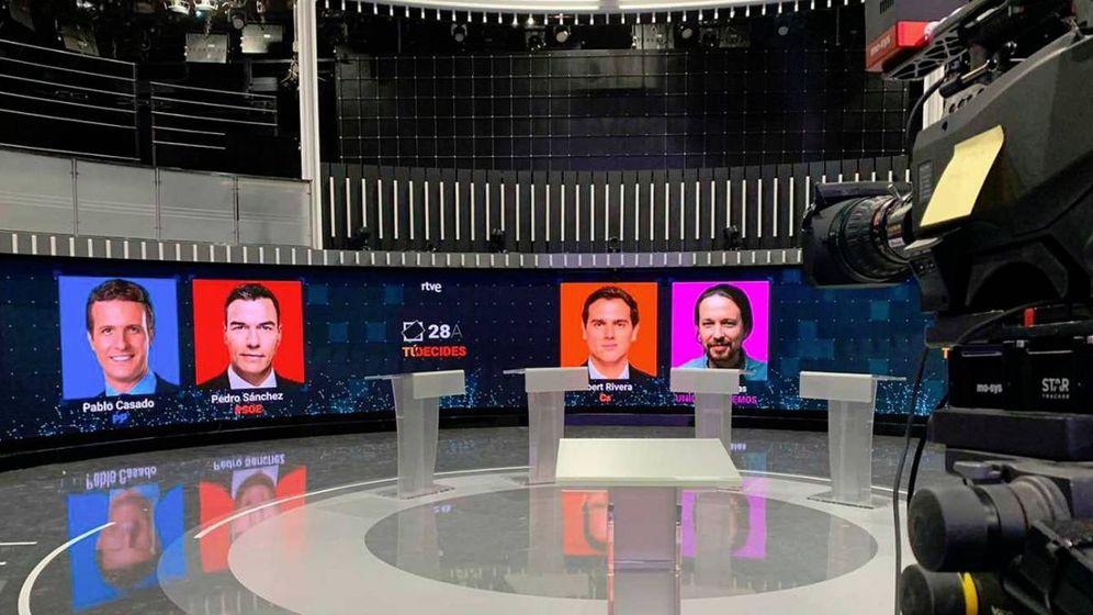 Foto: Debate electoral de RTVE.