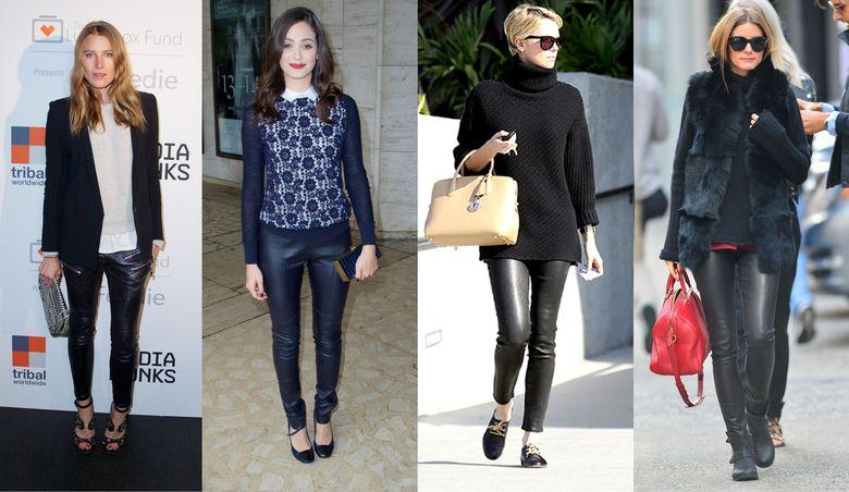 851e6392d4659 Moda otoño-invierno  Fondo de armario  Los pantalones de cuero se han  convertido en los nuevos vaqueros