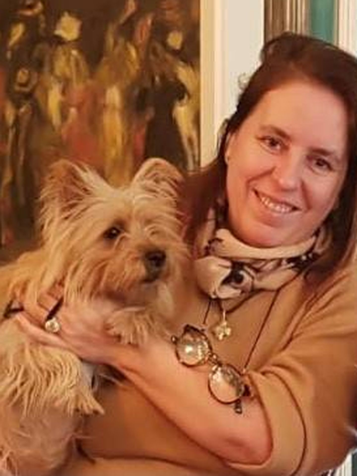 Urquiola, con su mascota. (Cortesía)