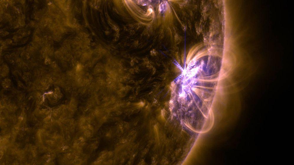 Foto: Erupción solar registrada el pasado 8 de septiembre (NASA)