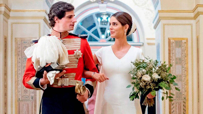 Sofía Palazuelo, el día de su boda. (EFE)