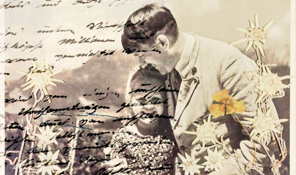 Foto: Algunas líneas del manuscrito falso sobre una foto inédita de Hitler. (EFE)