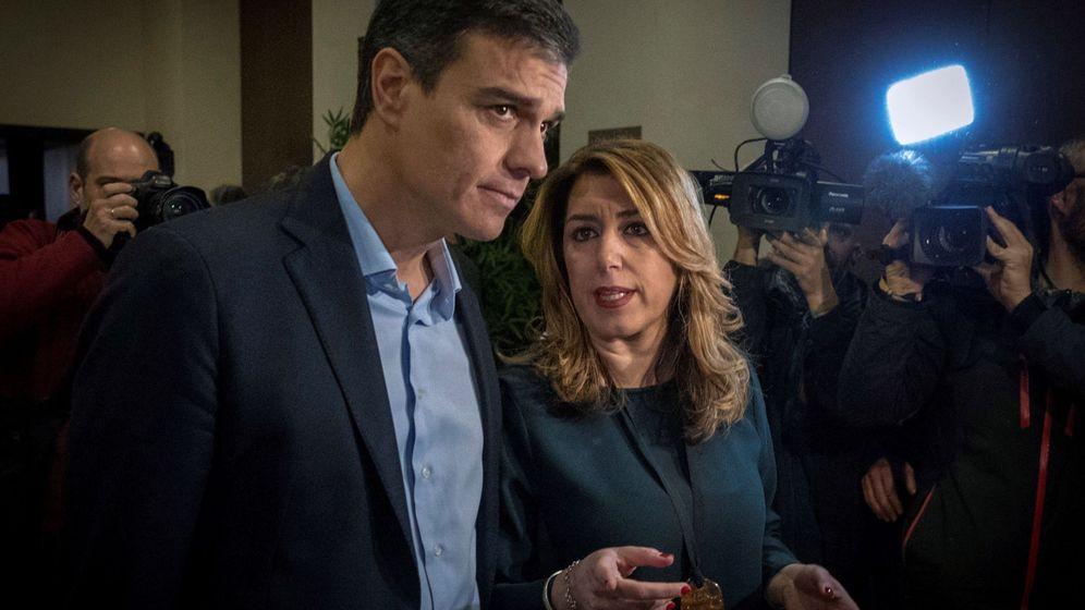 Foto: La presidenta andaluza y secretaria general del PSOE-A, Susana Díaz, y Pedro Sánchez. (EFE)