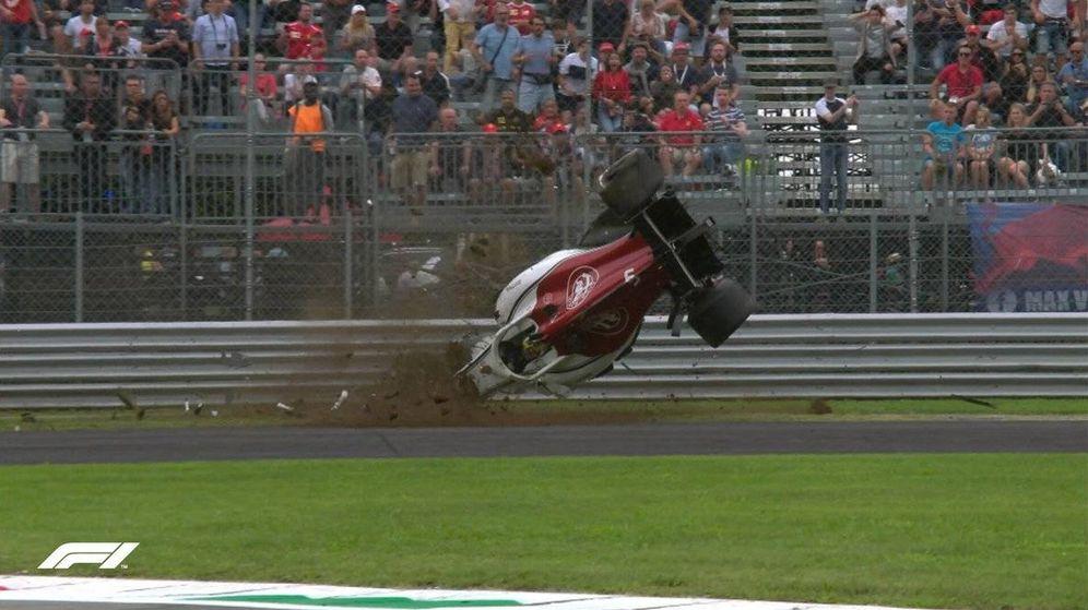 Foto: Así fue el escalofriante accidente de Marcus Ericsson en el GP de Italia