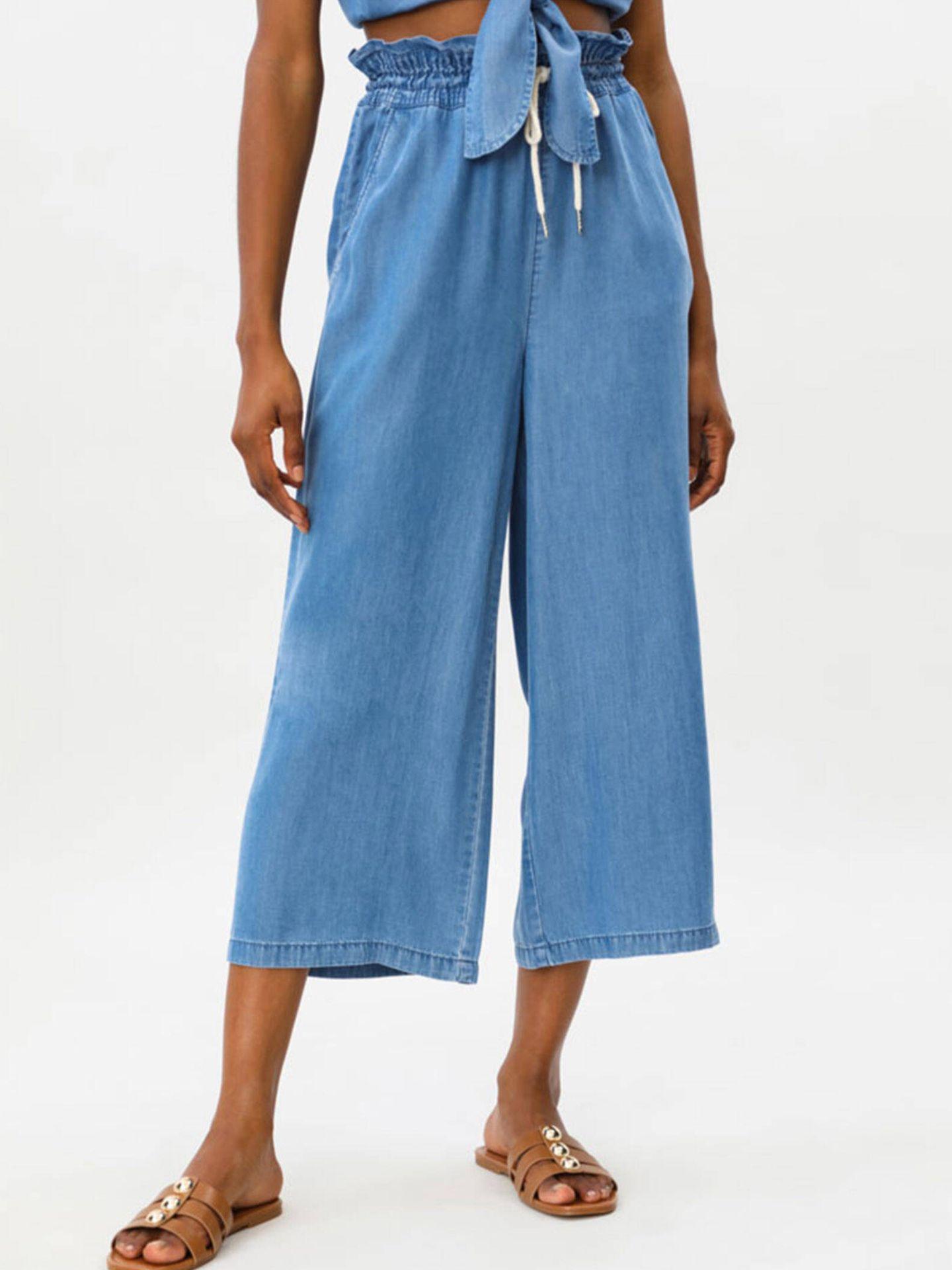 Pantalón culotte de Lefties. (Cortesía)