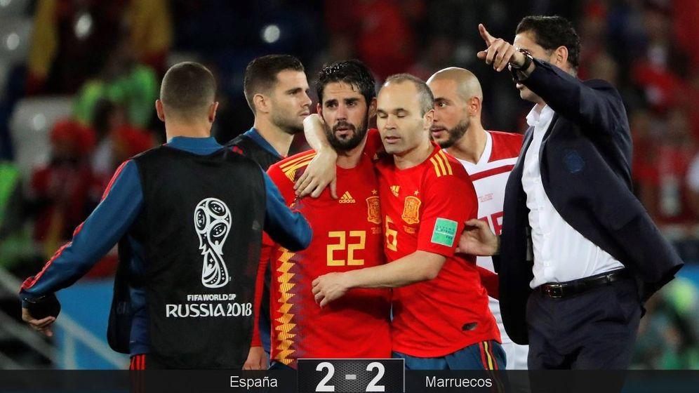Foto: España jugará contra Rusia en octavos de final tras acabar primera del grupo B. (EFE)