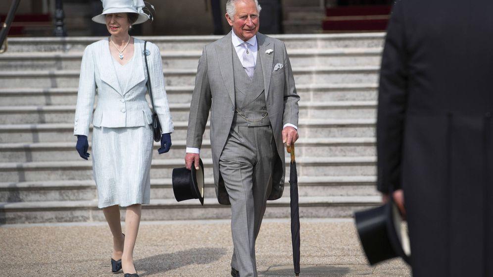 Foto: El príncipe Carlos y la princesa Ana, hace unos meses. (Getty)