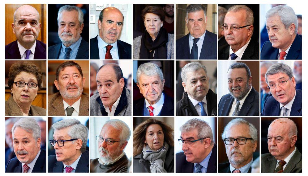 Foto: Condenados 19 de los 21 ex altos cargos acusados en el caso de los ERE. (EFE)
