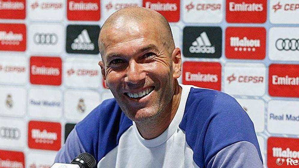 Foto: Zidane, en su primera conferencia de prensa.