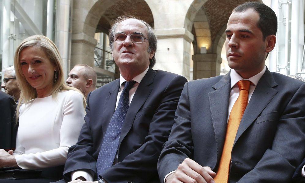 Foto: Los candidatos a la Presidencia de la Comunidad de Madrid, Cristina Cifuentes (PP), Ángel Gabilondo (PSOE) e Ignacio Aguado (Ciudadanos). (EFE)