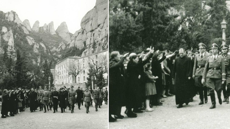 Foto: Llegada de Himmler con toda su comitiva al Monasterio de Montserrat. (Pérez de Rozas/Arxiu Fotogràfic de Barcelona)