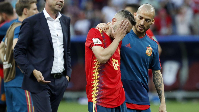 Hierro, tras ser eliminada España. (EFE)