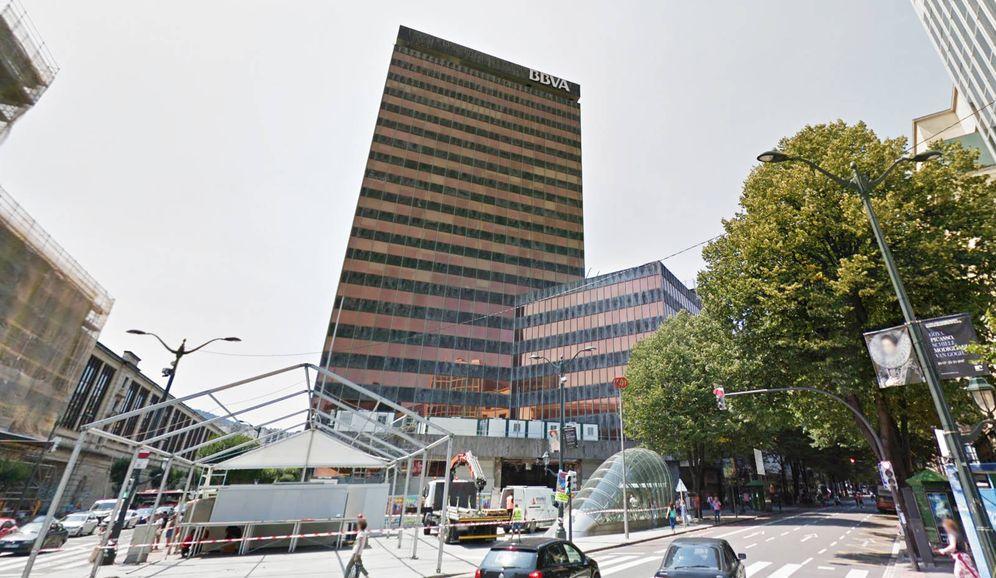 Foto: Imagen de la torre de BBVA en Bilbao.