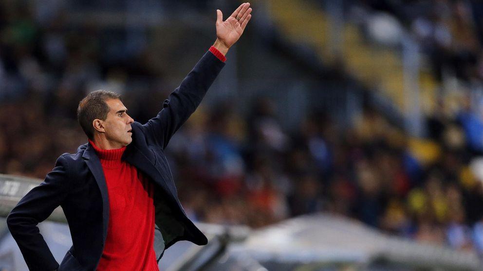 Foto: Garitano ha conseguido dos ascensos consecutivos con el Eibar (EFE)