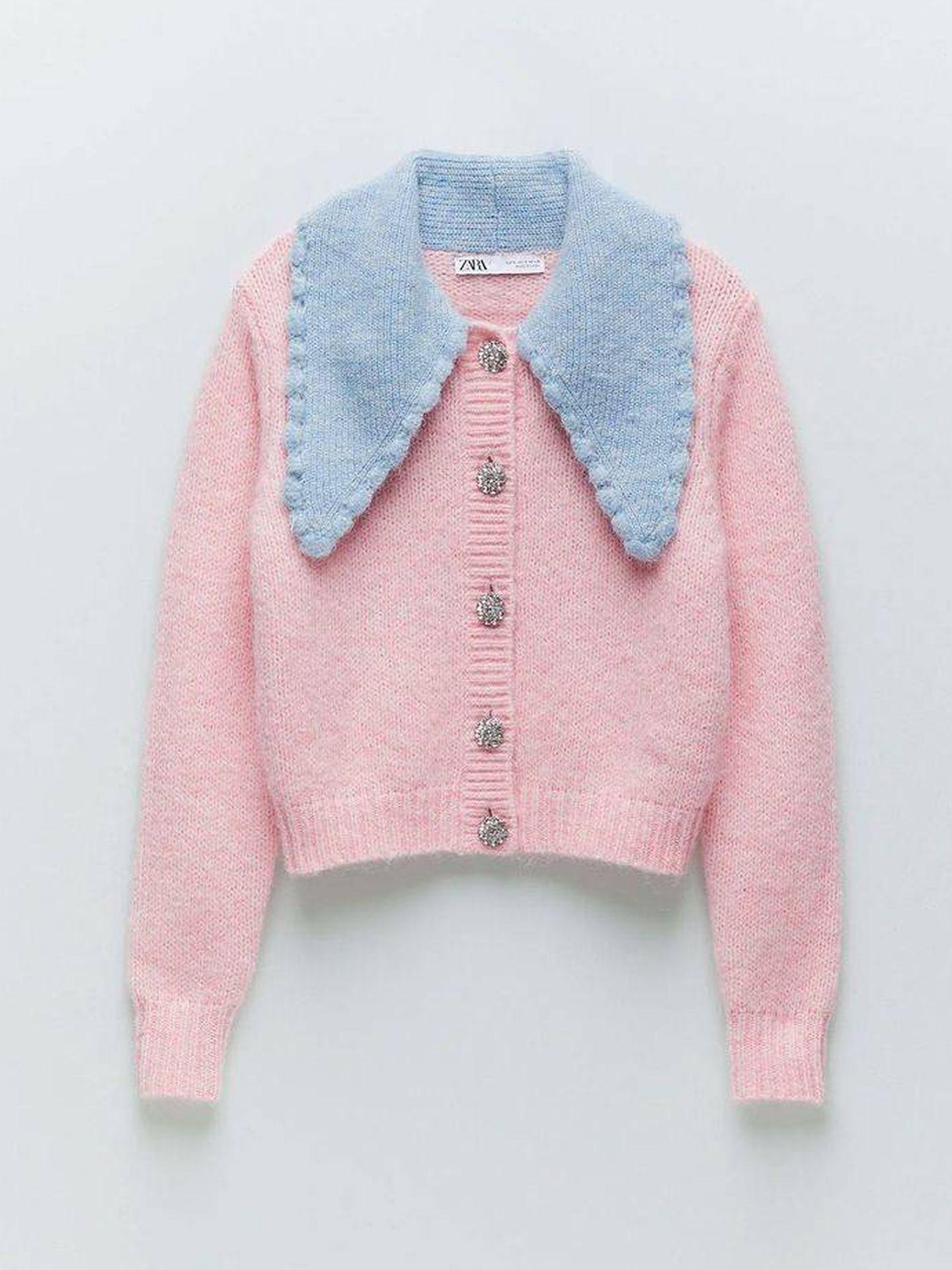 La chaqueta de punto de Zara. (Cortesía)