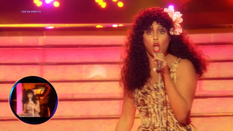 Cristina Ramos como Donna Summer en 'Tu cara me suena'. (Antena 3)