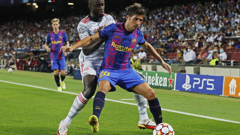 Sergi Roberto en el partido contra el Bayern de Múnich. (Efe)