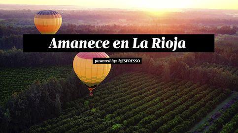 Empieza el día en globo sobre La Rioja mientras amanece en la sierra de Cantabria