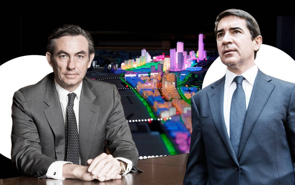 Foto: Álvaro Aresti, presidente de DCN, a la izquierda, y Carlos Torres, presidente de BBVA, a la derecha.