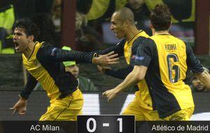 El 'Atleti' sube en Milán un escalón más hacia un techo que aún no conocen