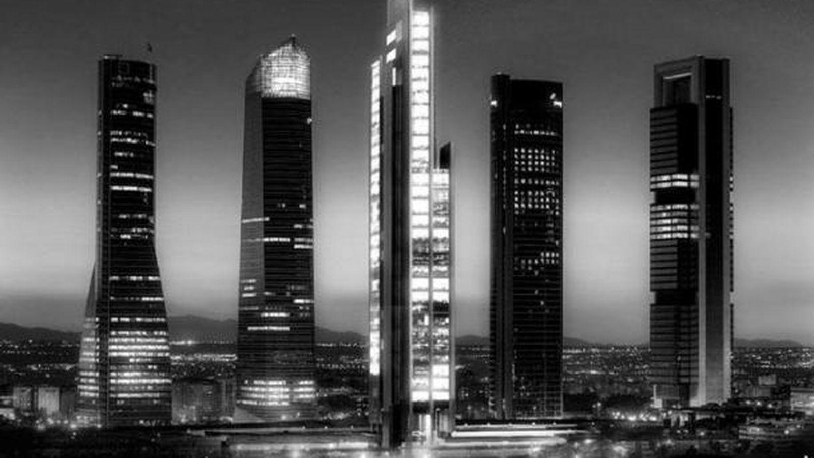 Foto: Imagen del 'skyline' de Madrid con el proyecto de la Quinta Torre