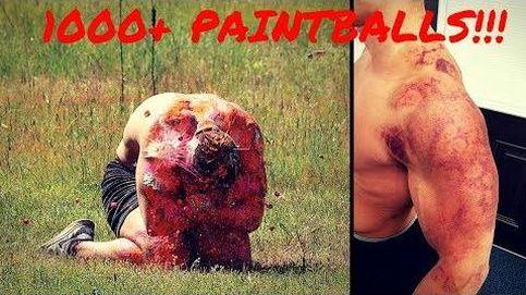 El reto más doloroso: recibir 1.000 disparos de 'paintball'