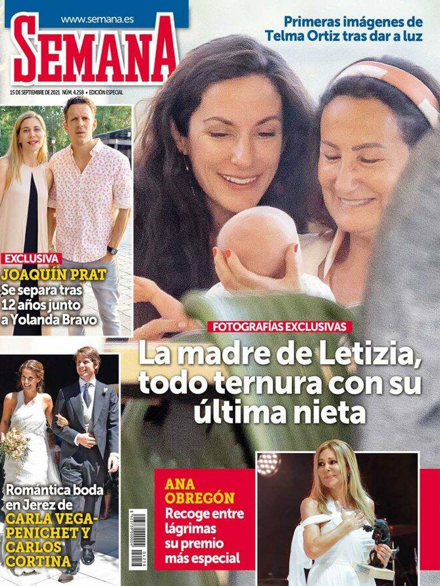 Paloma Rocasolano, con su nueva nieta. (Semana)