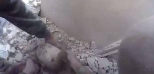 Post de Un milagro en medio de la matanza en Siria: rescatan a un bebé bajo los escombros