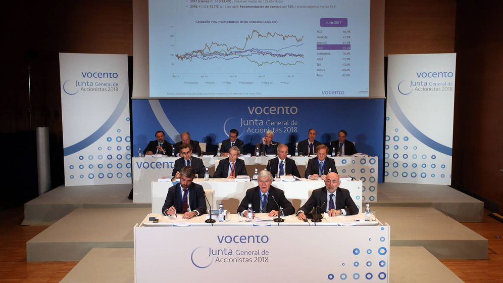 Foto: El consejo de administración de Vocento, en una imagen de archivo.